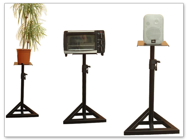 2 x boxenstative f r audio boxen m bel monitor st nder studio stativ stand ebay. Black Bedroom Furniture Sets. Home Design Ideas