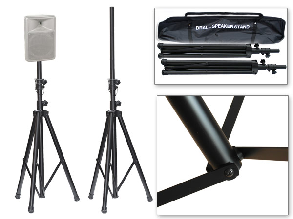 Dj pa aluminio soporte altavoces 2x tr pode soporte para - Soporte para altavoces ...