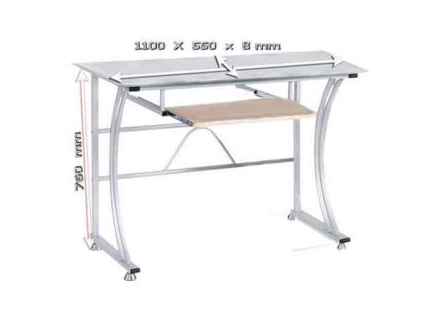 pc tisch computer laptop notebook schreibtisch b ro arbeitsplatz b rotisch glas. Black Bedroom Furniture Sets. Home Design Ideas