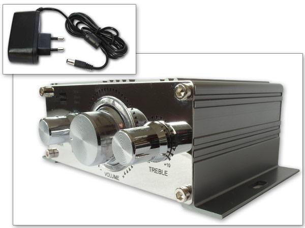mini amplificateur avec 12v c ble lectrique convient pour. Black Bedroom Furniture Sets. Home Design Ideas