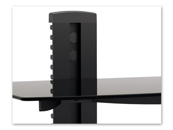 Verre regal m dia console fixation murale pour tv support - Console tablette murale ...