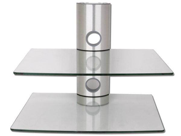 dvd bluray receiver konsole player glas regal 2 ablagen. Black Bedroom Furniture Sets. Home Design Ideas
