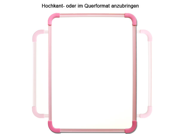 kinder whiteboard weisswandtafel 40x30 cm rosa magnetafel. Black Bedroom Furniture Sets. Home Design Ideas