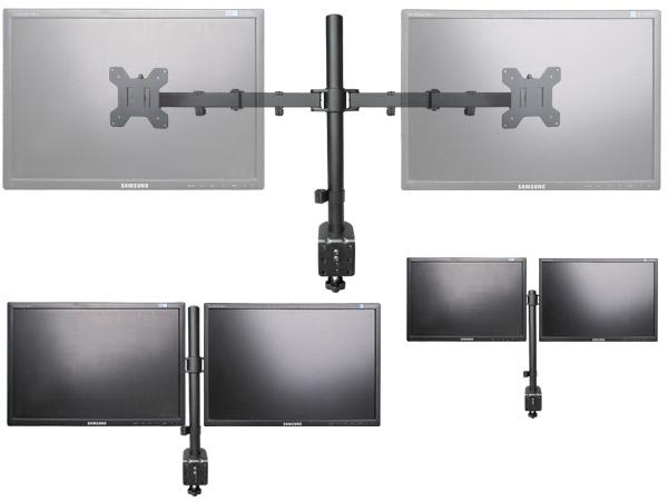 Monitor soporte am mesa para 2 tft lcd led tv pc pantallas - Soporte tablet mesa ...