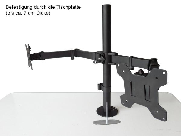 Monitor soporte am mesa para 2 tft lcd led tv pc pantallas for Soporte monitor mesa