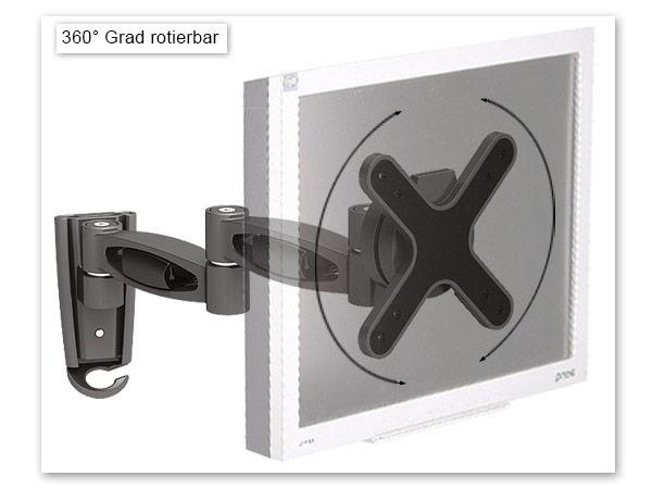 wandhalterung lcd led tv halterung neigbar ausziehbar schwenkbar halter schwarz ebay. Black Bedroom Furniture Sets. Home Design Ideas