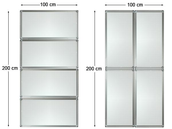 4 pi ce tableau blanc tableau noir 400x50 ou 200x100 cm for Fenetre 200x100