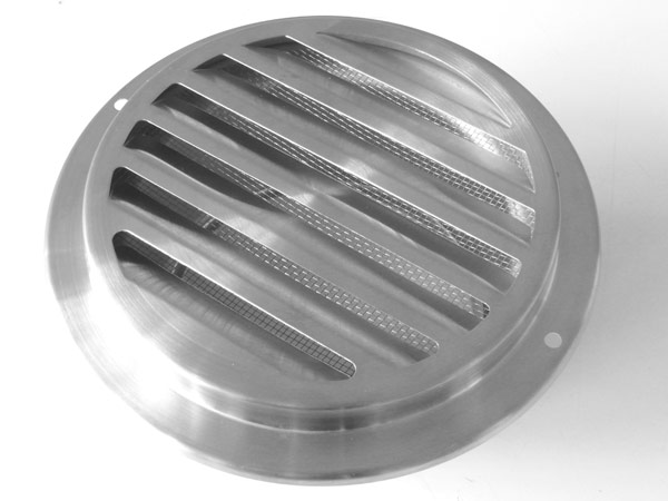 Zuluftgitter rund Edelstahl Ventilation Aussenluftgitter Lochgitter Ø 100 mm Ab