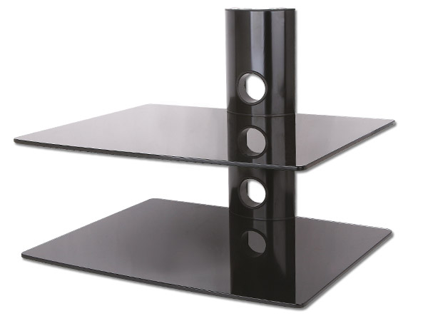 2 fach glas regal f r bluray dvd player konsole. Black Bedroom Furniture Sets. Home Design Ideas