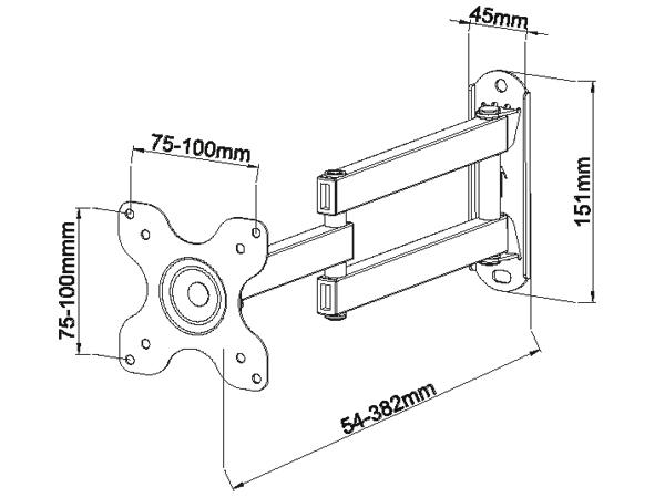 """Monitorhalterung bis 41 cm doppelt schwenkbar für Philips 24/"""" 243S5LSB5//00"""